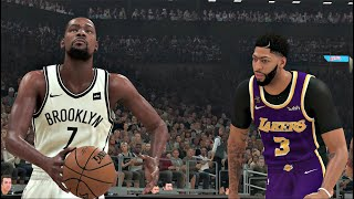 ... lebron james and anthony davis lead the los angeles lakers into battl...