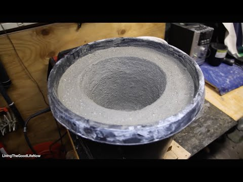 How to make a Large $50 Mini Homemade Metal Foundry Furnace Forge propane or charcoal DIY Pt.1