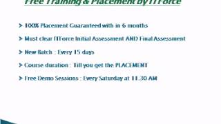 Training & Placement By Www.itforce.in