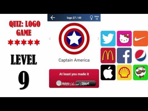 Quiz: Logo Game Level 9 - All Answers - Walkthrough ( By Lemmings At Work )