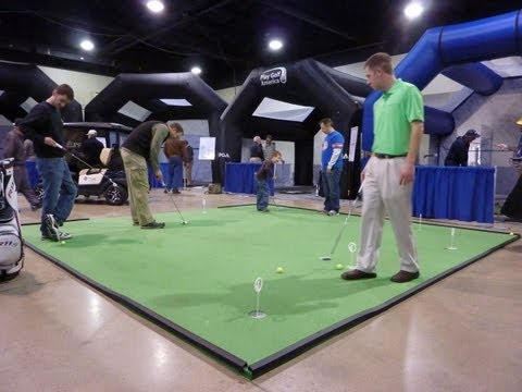 Installation Of 16' X 16' BirdieBall RollTech Putting Green At Denver Golf Expo 2013