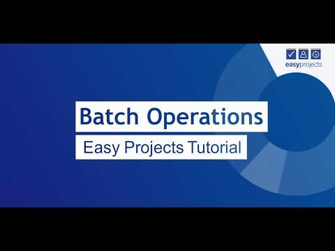 Batch Operations - Easy Projects Tutorial