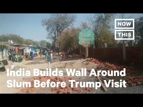 Download  India Builds Wall Around Slum Ahead of President Trump's Visit | NowThis Gratis, download lagu terbaru