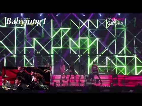 EXO & SHINEE Reaction To F(x)- Electric Shock
