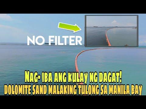 Download ANG TOTOONG KULAY NG DAGAT SA MANILA BAY | MANILA BAY DOLOMITE SAND UPDATE 09-28-2020