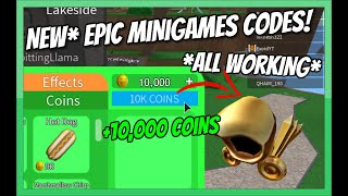 *NEW* EPIC MINIGAMES CODES! *ALL WORKING* 2019 [Roblox]
