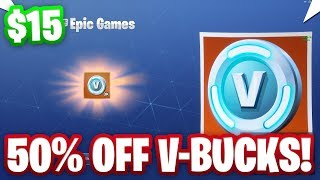 HOW TO GET V-BUCKS FOR 50% OFF IN FORTNITE! ($15 for 3000 V-Bucks)