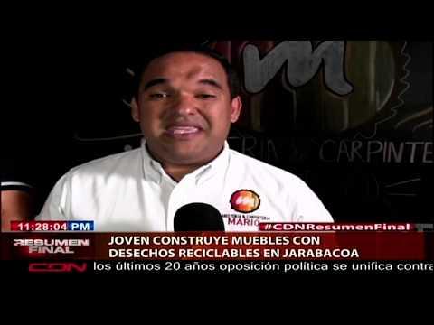 Joven Construye Muebles Con Desechos Reciclables En Jarabacoa