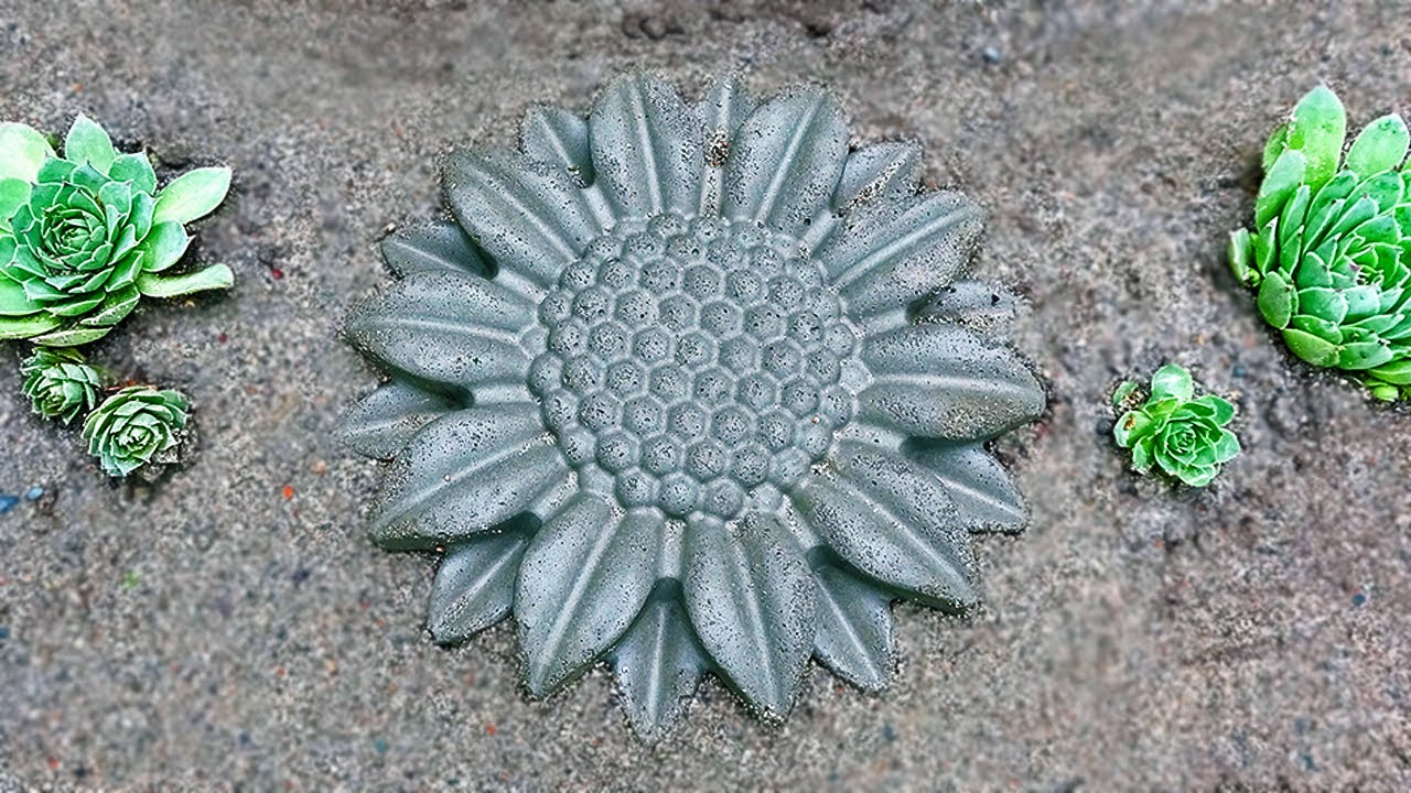 Простой декор для сада из песка и цемента