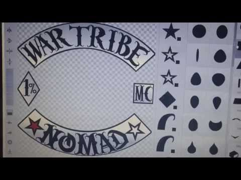 War Tribe Nomads MC (made in emblem creator) by Demigunz Pres. of War Tribe MC