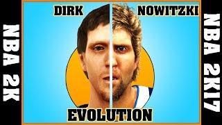 DIRK NOWITZKI evolution [NBA 2K - NBA 2K17] 🏀