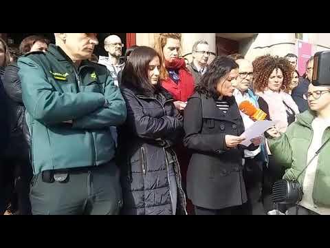 Concentración contra la violencia machista, en Ourense