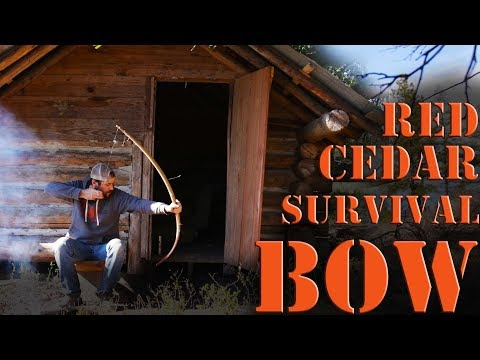 How to Build a primitive sinew backed cedar survival bow