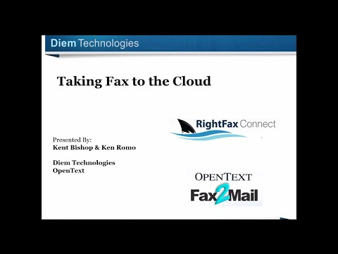 Taking Fax to the Cloud - OpenText RightFax Connect + Fax2Mail