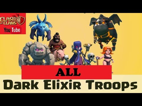 Clash of clans ||All dark barrack troops name ||2018