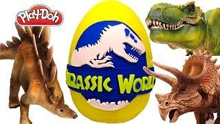 Jurassic World Giant Egg Play Doh Lego Minions Minecraft
