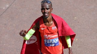 Mo Farah finishes third in the London Marathon with a new British record