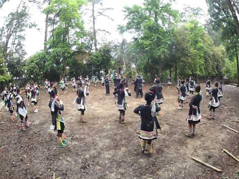 The welcome dance at Biasha Miao Village, Guizhou province, China