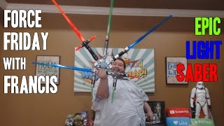 FRANCIS BUILDS HIS OWN LIGHT SABER STAR WARS BLADE BUILDERS