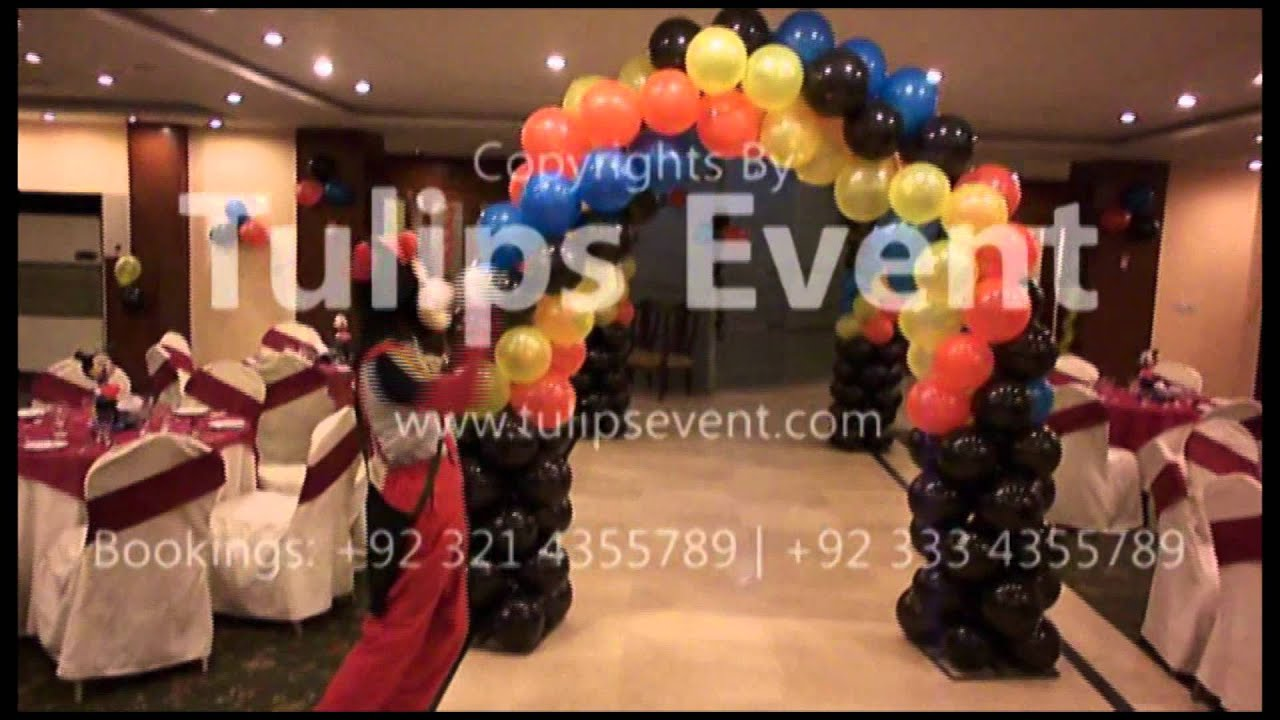 Mickey Mouse Thematic birthday party planner balloons decorator in