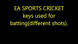 EA Sports Cricket Shots How To Play on Computer