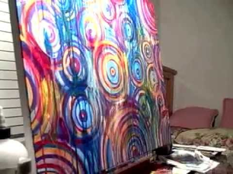Abstract Acrylic Painting by Lindsey Cormier - YouTube