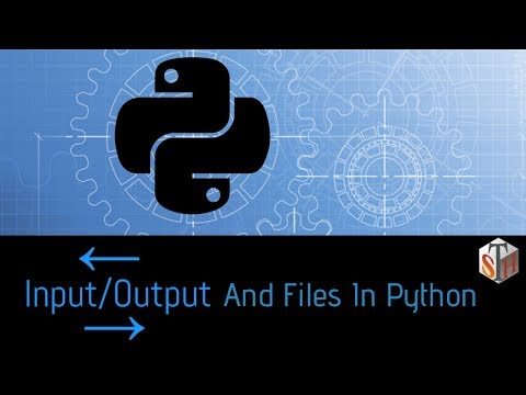 Input-Output and Files in Python
