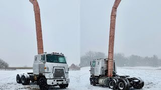 Worlds Tallest Stack (38ft) installed on FRANK the Cabover