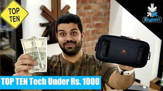Top 10 Cool Tech Under Rs. 1000 - Budget Shoppi...