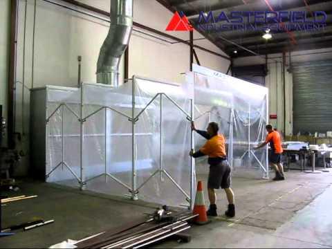 MastreFlex 1693 Retractable Spray Booth  Retracting
