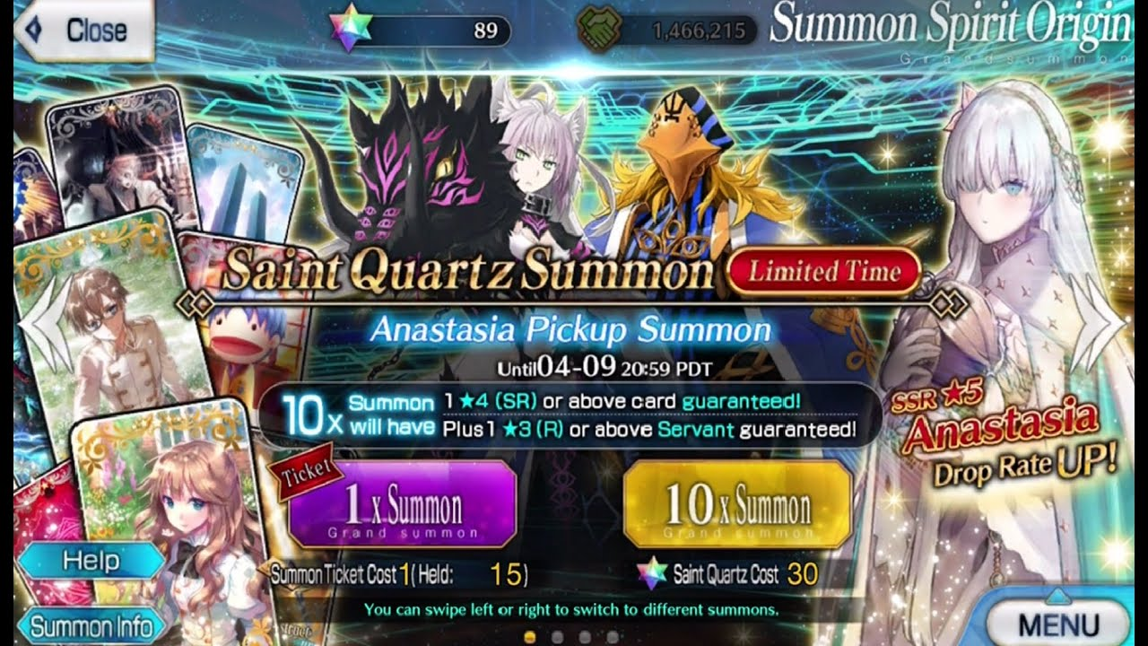 Fate Grand Order Anastasia Banner Can I Get Atlante Alter Youtube For fate / grand order on the ios (iphone/ipad), a gamefaqs message board topic titled rabbit's reviews #102: youtube