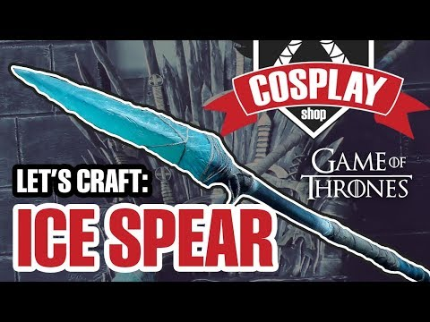 Making An Ice Spear From Game Of Thrones  (Brush On Mold Tutorial)