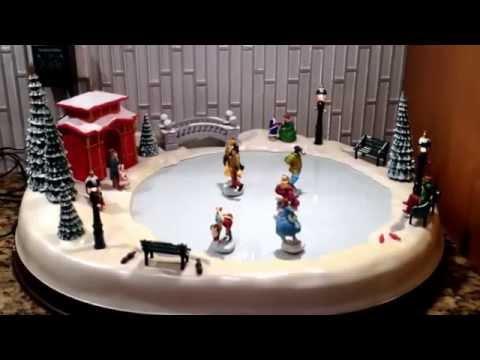 Mr. Christmas Holiday Skaters Winter Skating Pond Musical