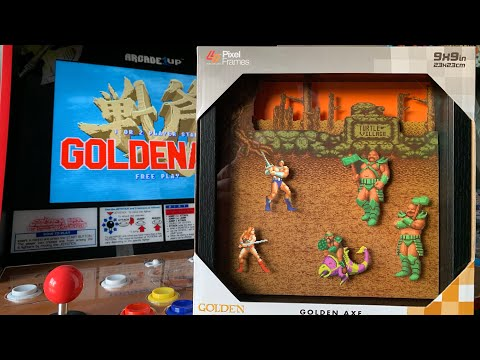GOLDEN AXE PIXEL ART by Level Up Labs REVIEW & GOLDEN AXE ARCADE1UP GAMEPLAY! from The 3rd Floor Arcade with Jason