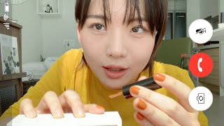 Video Call ASMR While Doing Nail Art | 네일하면서 너랑 영상통화할래 ASMR