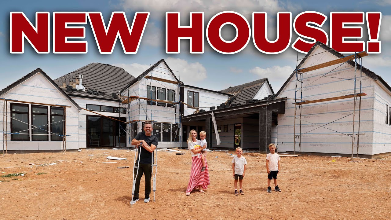 Home From Surgery - New House Walkthrough! (Custom Home Update)   Ellie and Jared