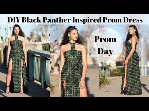 diy-black-panther-inspired-prom-dress-|-prom-day