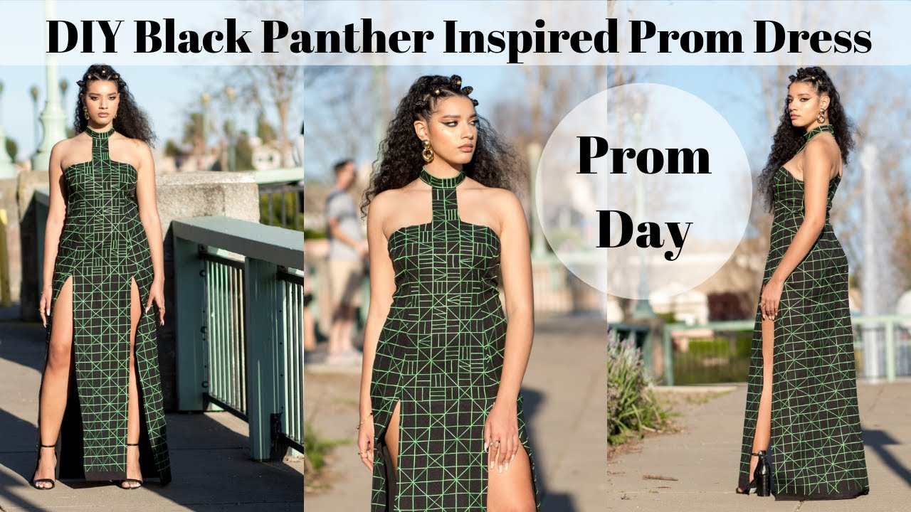 d864be3318a5 DIY Black Panther Inspired Prom Dress
