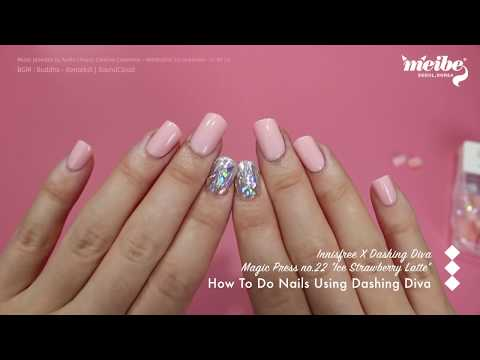 [K-beauty Unboxing] How To Do Nails Using DASHING DIVA Magic Press