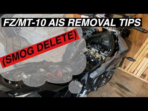 Yamaha FZ/MT-10 AIS removal TIPS (smog delete)
