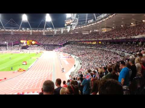 Paralympic athletics medal ceremony London 2012 - South Africa gold