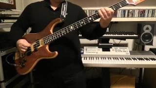Bass Cover - Simple Minds - Midnight Walking - with Alembic Elan bass