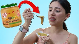 Trying BABY FOOD For the First Time! (Baby Food Challenge)