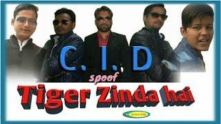 tiger zinda hai || cid funny video || funny cid spoof
