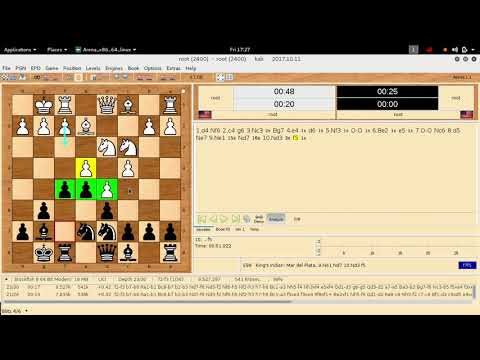 how stockfish 8 plays king indian defence with Ne1