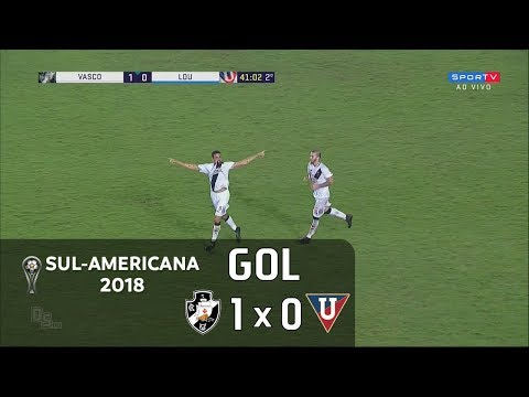 Vasco 1 x 0 LDU (EQU) - Sul-Americana 2018 - Sportv HD⁶⁰
