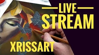 Xrissart Live Stream - Pastels on Pastelmat | March Mashup Butterfly Leaf