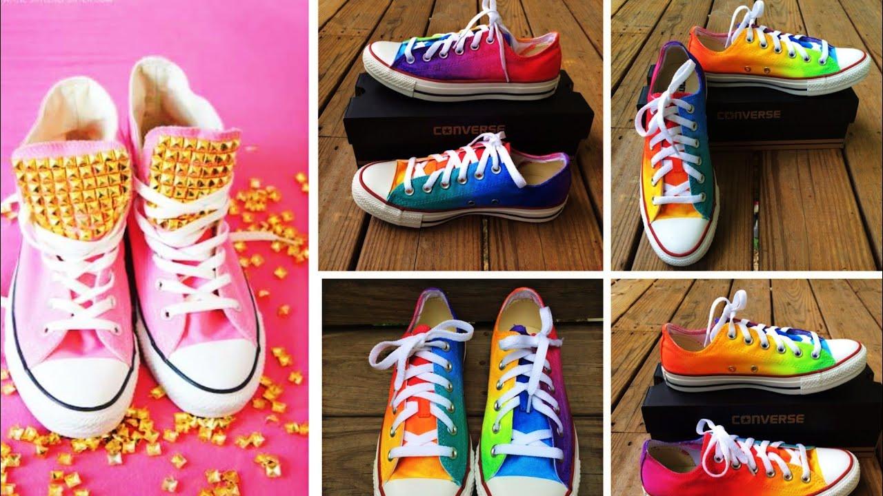 DIY Shoe Designs! 10 Cute \u0026 Easy Shoe