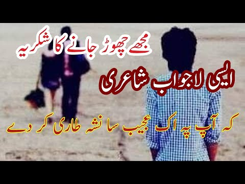 Heart Touching Urdu Poetry🎗sad Urdu Poem 🎗Mojy Chorr Jane Ka Shokriya🎗Muneeb Aasi