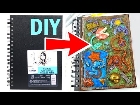 HOW TO MAKE DIY SKETCHBOOKS Custom Journal Covers polymer clay tutorial craft back to school